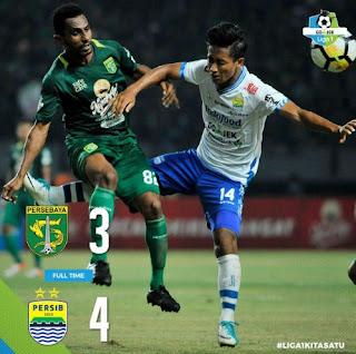 Pelatih Persebaya Akui Persib Bandung Main Lebih Baik
