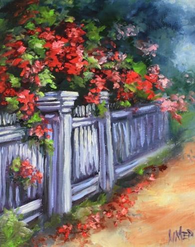 Nancy Medina e Suas Paisagens com Flores