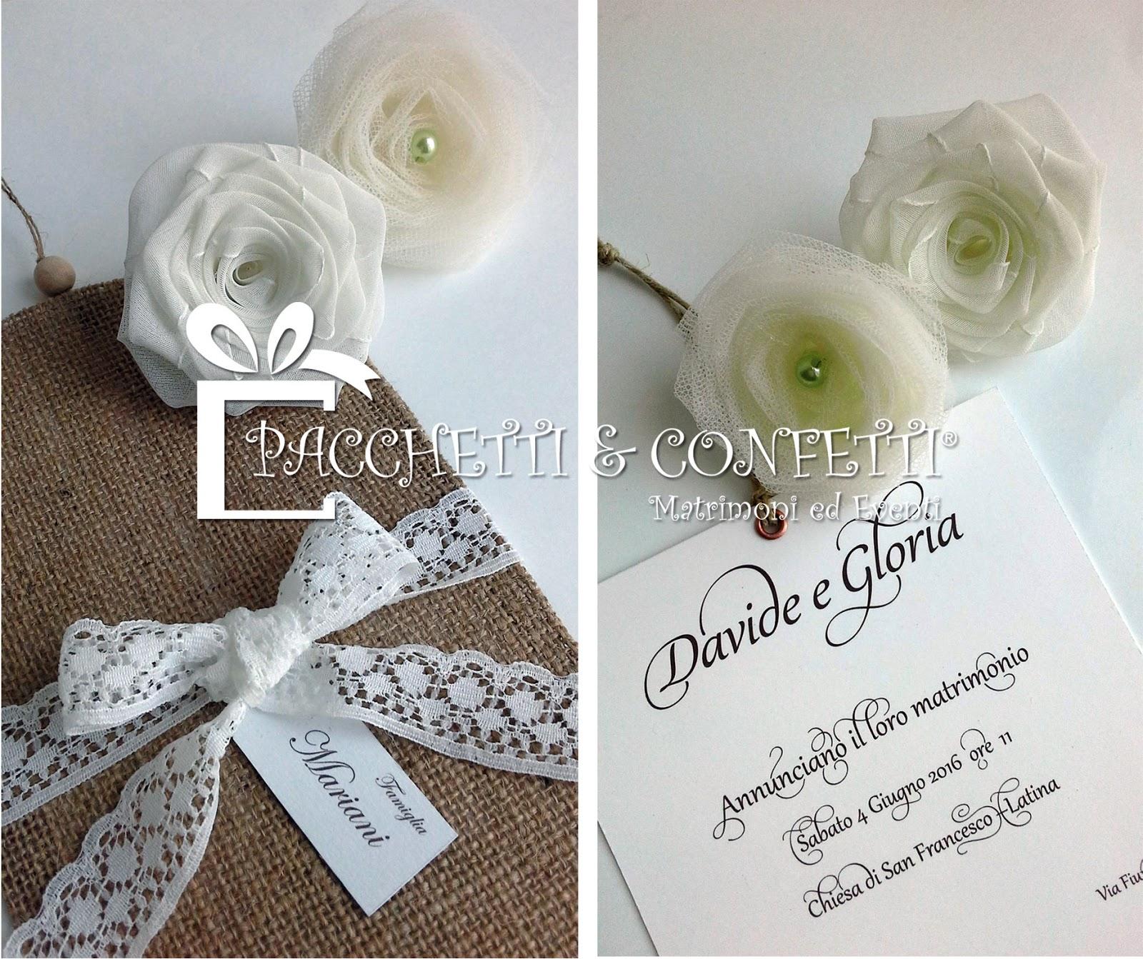 Partecipazioni Matrimonio In Juta : Pacchetti e confetti nuove partecipazioni nozze juta