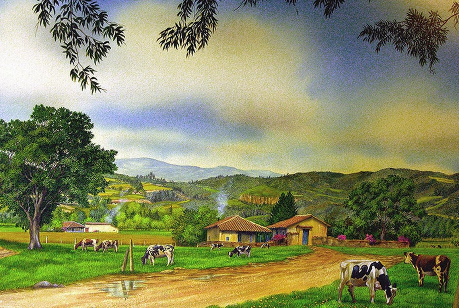 Imágenes Arte Pinturas: Pinturas Paisajes Campesinos, José Orlando López