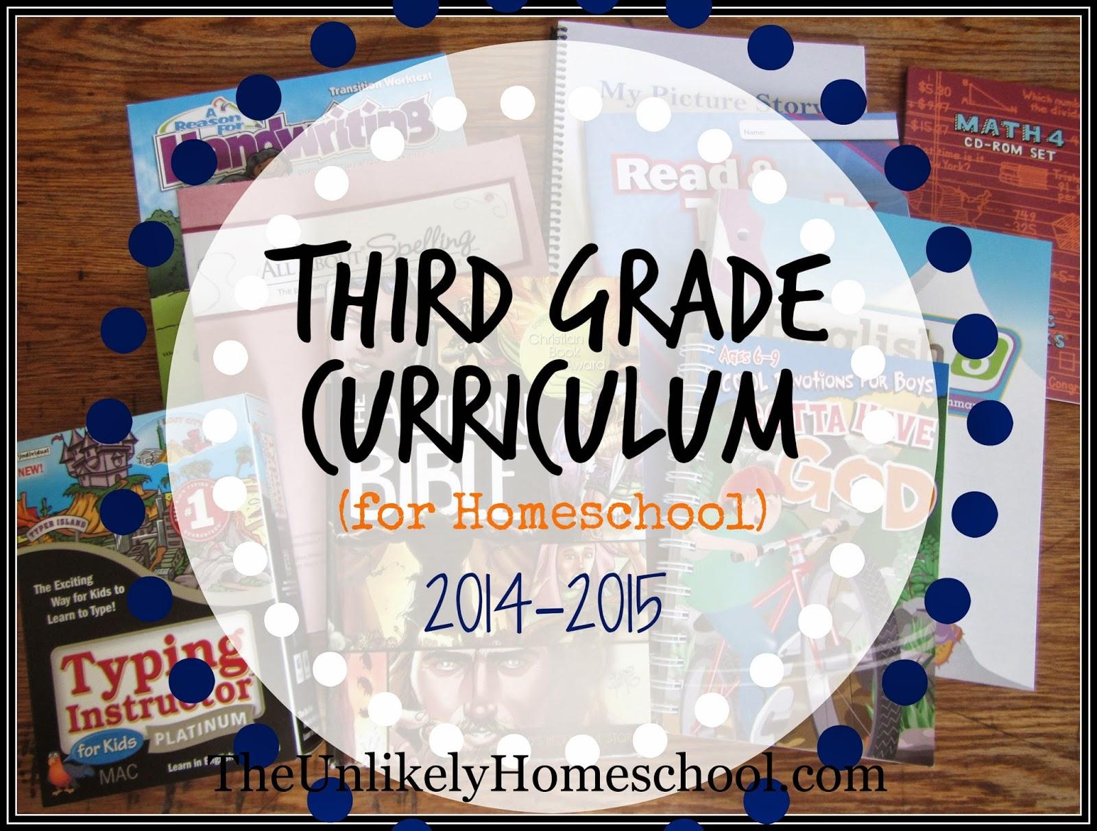 Third grade curriculum for homeschool the unlikely also theunlikelyhomeschool com