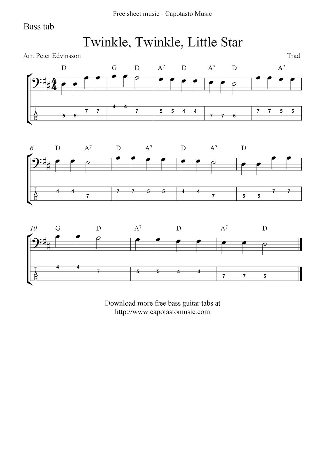Free Printable Sheet Music Free Bass Guitar Tab Sheet Music
