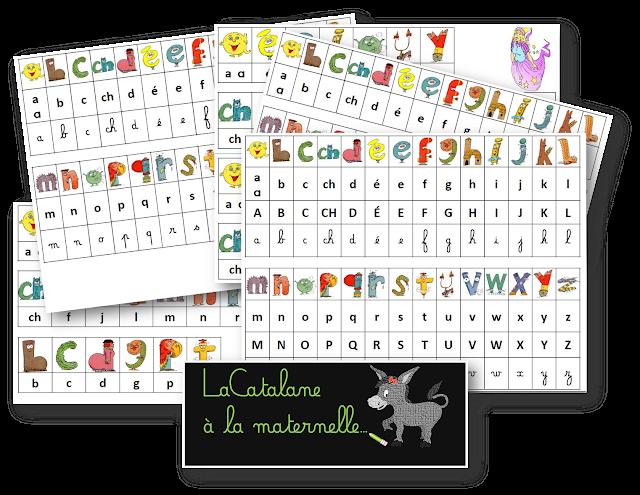 Référentiels alphas / script / cursif (LaCatalane)