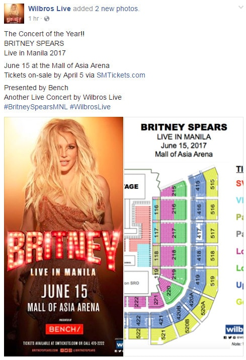 Britney concert ticket