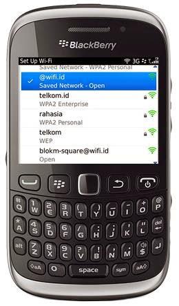 menggunakan wifi di hp blackberry