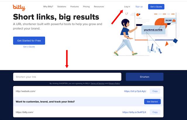 Cara Memperpendek Url Link yang Panjang dengan Bit.ly