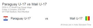 Paraguay U17 vs Mali U17 match Fifa 2017