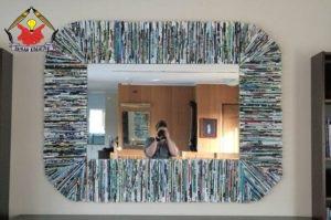 Frame Cermin Dari Koran Bekas