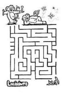 Atividade de labirinto- maternal