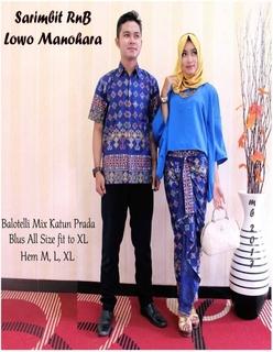 Model Baju Pesta Muslim Bahan Batik Couple