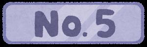 「ワーストランキング」のイラスト文字(No.5)