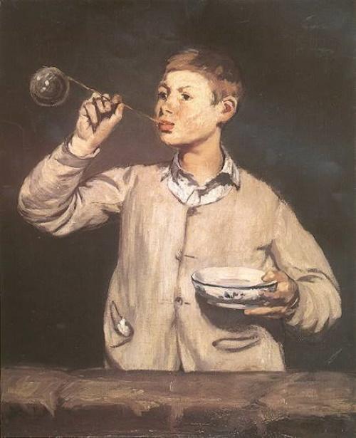 #PraCegoVer: As bolas de sabão - Edouard Manet.