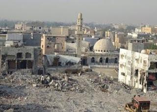 مدينة العوامية الشيعية التي دمرتها قوات ال سعود ... دفن للتراث وقتل للحرث و النسل !