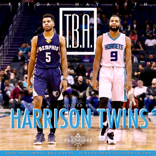 NBA Harrison Twins Host Playhouse Nightclub