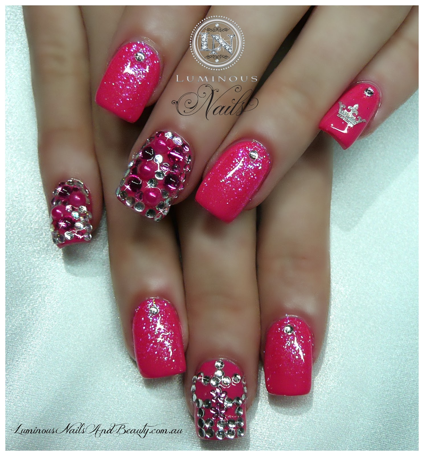 white tip nail designs with glitter - 20 Glitter Nail Designs For The Everyday Glamazon