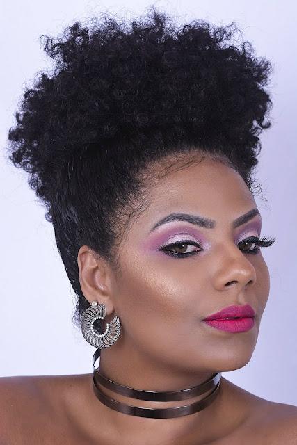 Maquiagem Rosa - Pele Negra