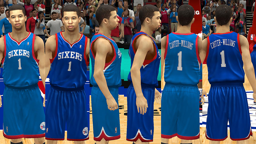 Sixers Alt Jersey Patch NBA 2K14