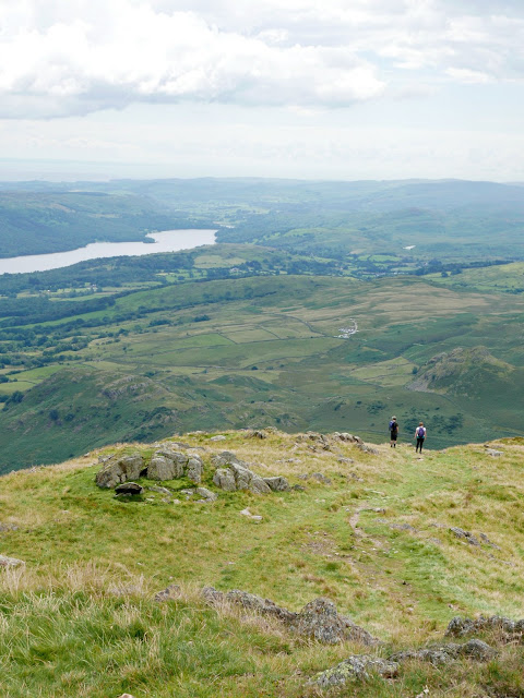 Coniston fells with walkers