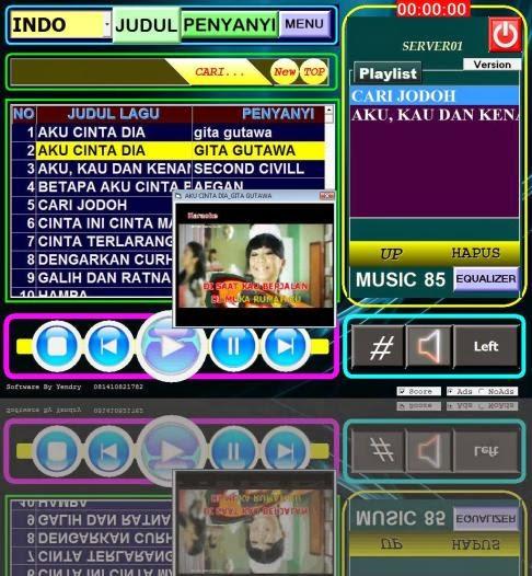 yen software karaoke versi 8.0  profesional