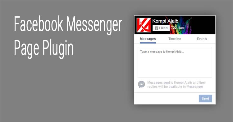 Fixed Facebook Messenger Page Plugin With Show Hide