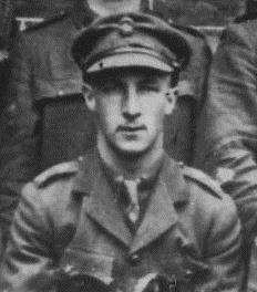 Lieutenant Ralph Pritchard, Northumberland Fusiliers, extracted from a group photo in the John Sheen Collection