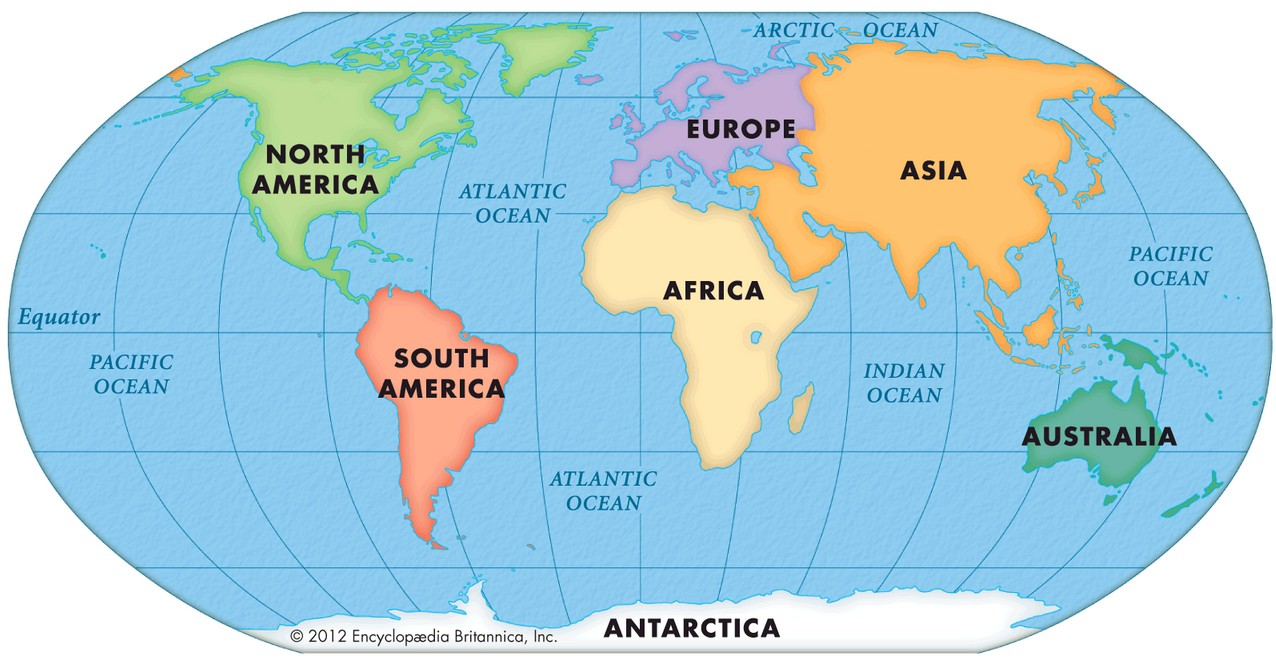 world map with continent names World Maps World Continent Maps With Name Area Population And world map with continent names