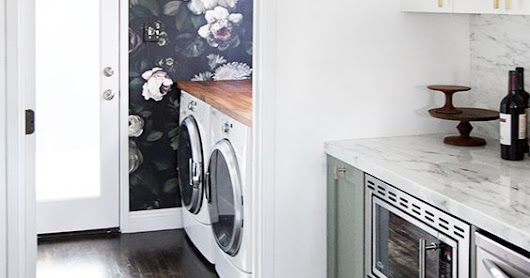 12 Dreamy Laundry Rooms {that can actually make doing laundry enjoyable.}