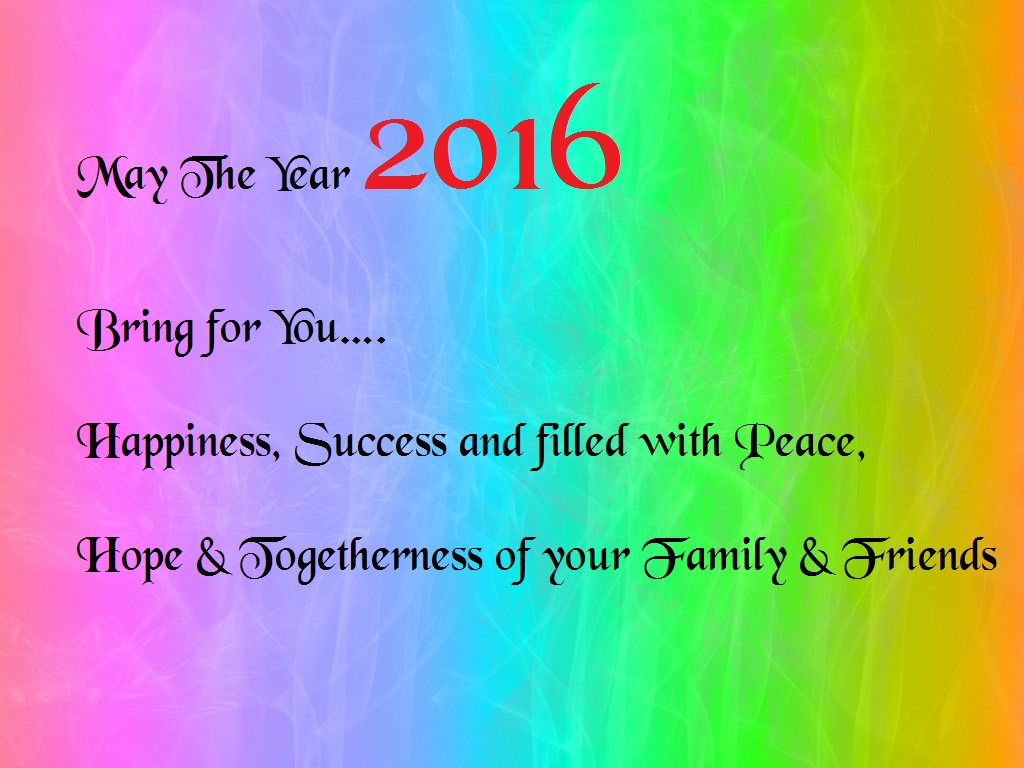 Simple New Year 2016 Wishes, Greetings Cards | Festival Chaska