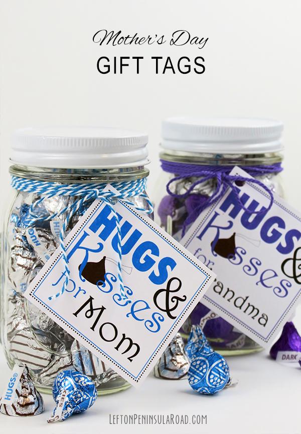 Mother's Day Hugs & Kisses Gift Tags (free printable)