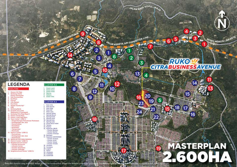 Lokasi Ruko CitraBusinessAvenue Maja Raya