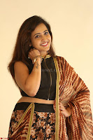 Lasya looks super cute in black choli Saree at Raja Meru Keka Press Meet ~  Exclusive 108.JPG