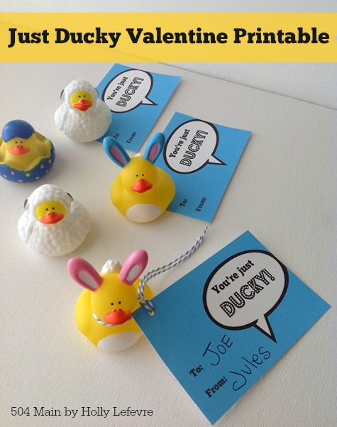 Just Ducky Printable Valentines