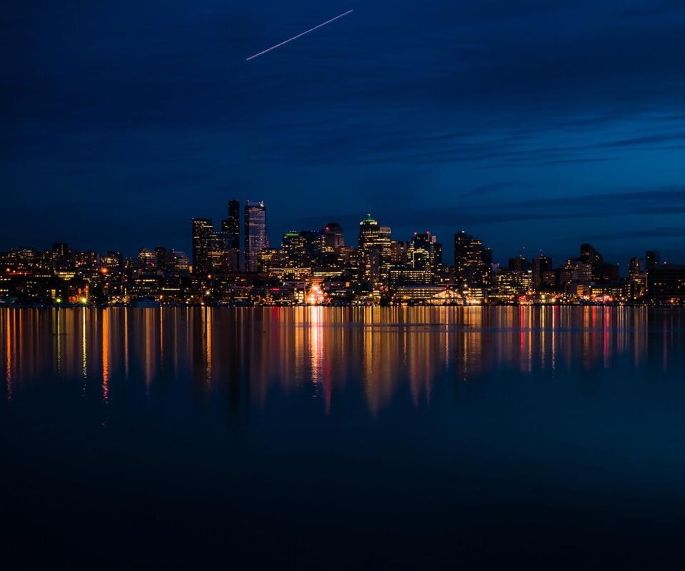 Вечерний Чикаго картинка на планшетник Скачать HD Обои