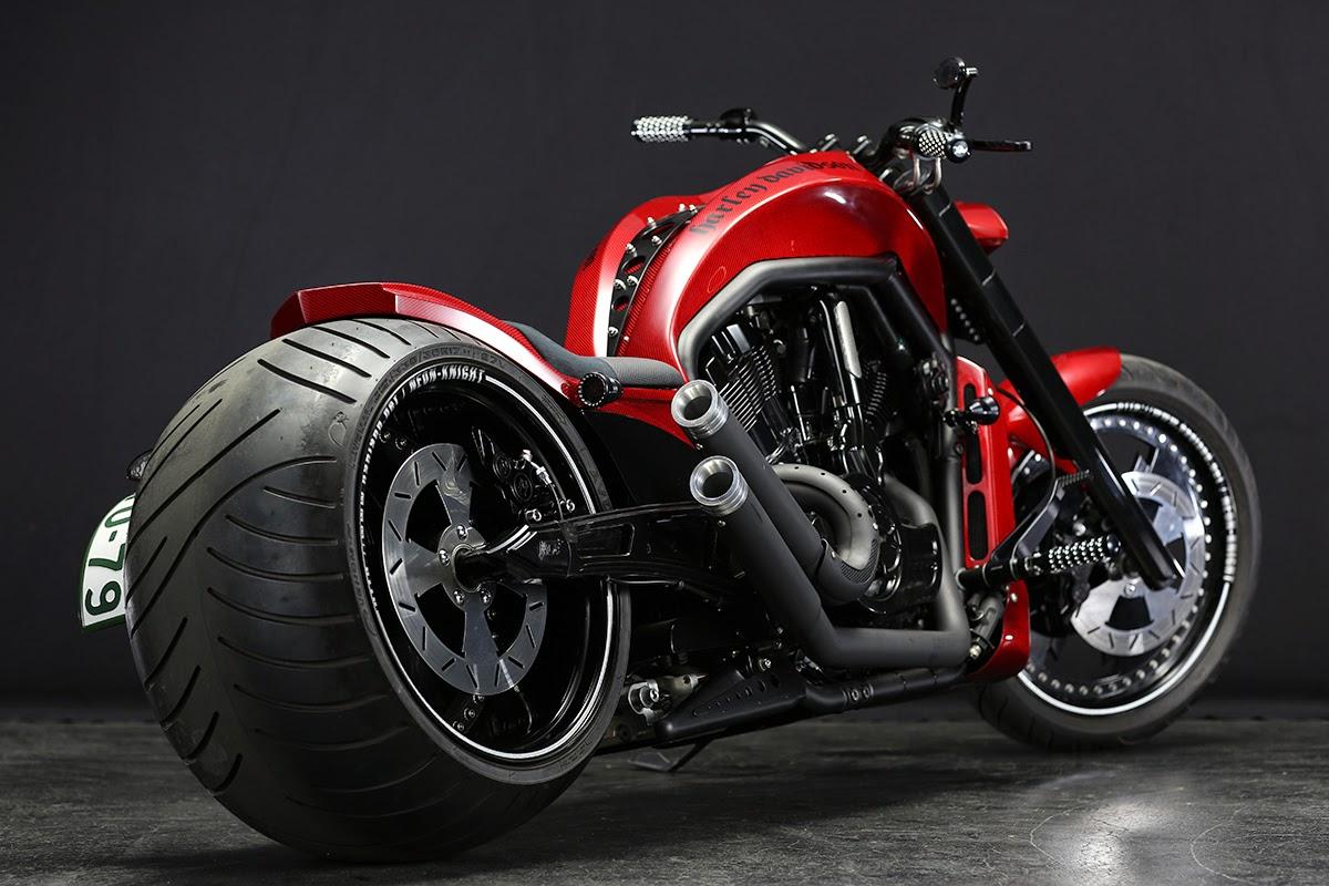 Motor Drag Ninja Modifikasi Harley Davidson VRSCD Ban Custom