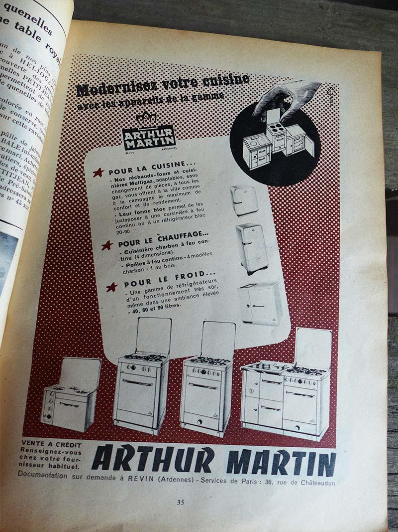 Ancienne publicité pour la marque Arthur Martin