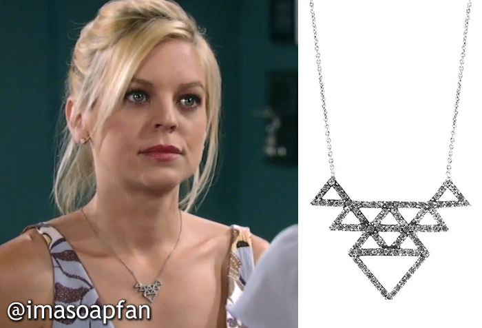 Maxie joness stacked triangle pendant necklace general hospital maxie joness stacked triangle pendant necklace general hospital season 53 episode 55 061715 mozeypictures Gallery
