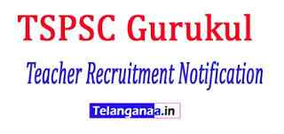 TSPSC Gurukul Teacher Recruitment Notification