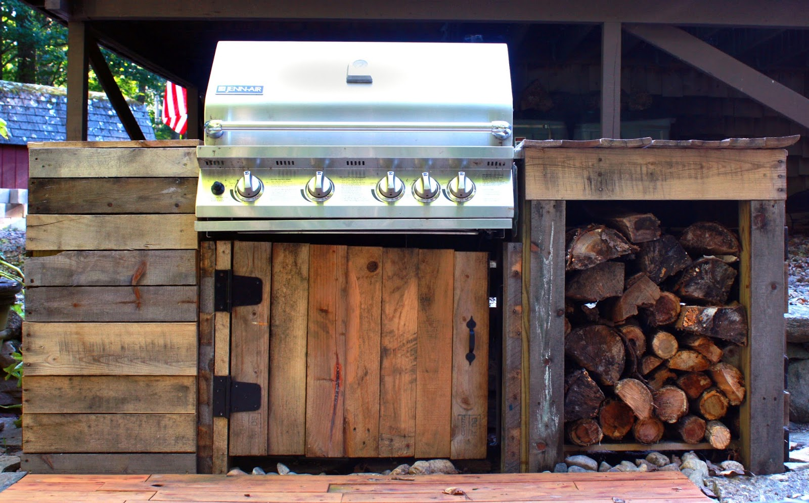 Visibly Moved: Patio and DIY Grill on Diy Bbq Patio id=91867