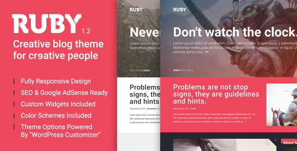 Free Download Ruby - A Creative WordPress Blog Theme