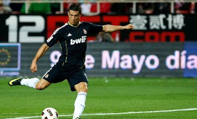 Cristiano Ronaldo scored four goals against Sevilla