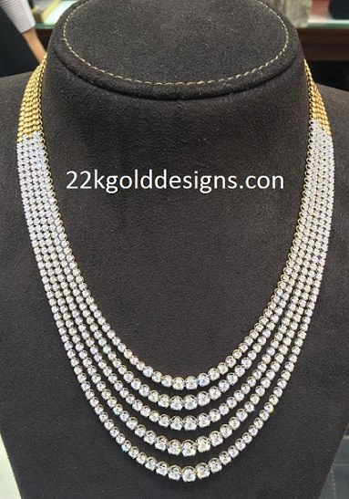 Malabar Multi Layered Diamond Necklace