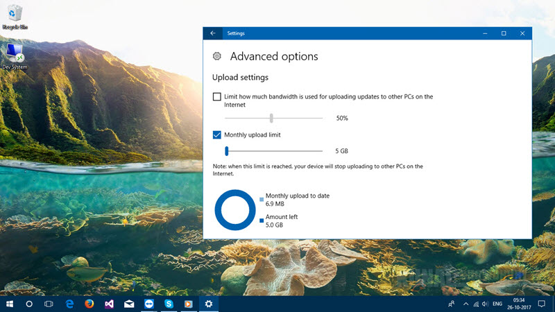 Windows 10 delivery optimization in Fall Creators Update (www.kunal-chowdhury.com)