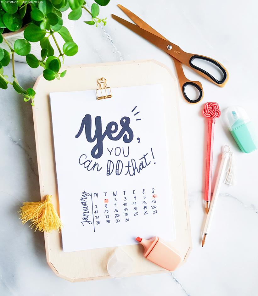 Kalenderliebe 2019 / luloveshandmade Kalender - whatinaloves.com