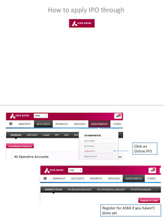 How to apply to IPO using Axis Bank Netbanking ASBA