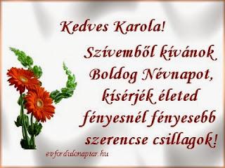 Január 28, Karola névnap
