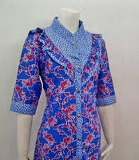 Baju Kerja Batik Wanita Bank