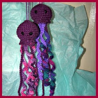 Mini medusas a crochet
