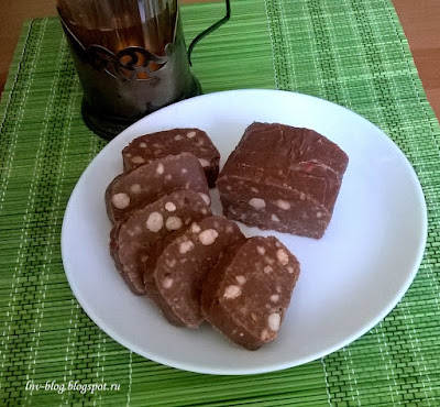Десерт Шоколадная колбаса