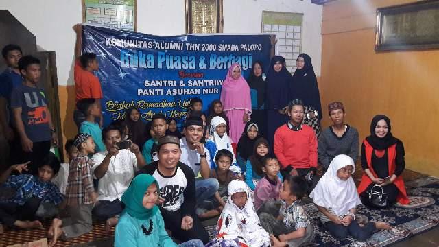 Anjangsana ke Panti Asuhan, IKA Smada 2000 Beri Santunan dan Bukber Anak Yatim Piatu