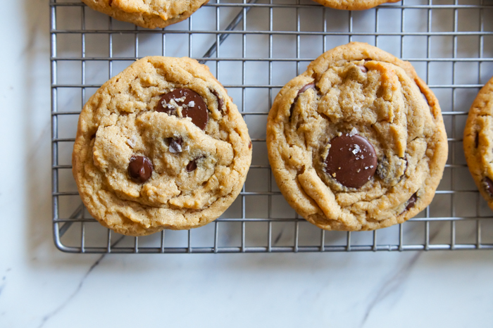 Triple Chocolate Peanut Butter Cookies with Sea Salt